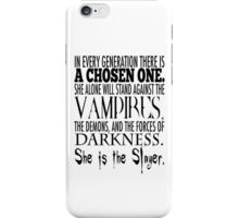 Buffy-The Chosen One iPhone Case/Skin