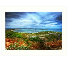 Peron from the lookout Art Print