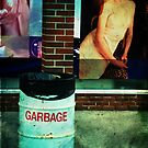 garbage and mural by Kate Wilhelm