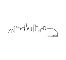 Los Angeles cityscape (black line) by peculiardesign