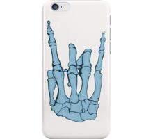 Skeleton hand | Blue iPhone Case/Skin