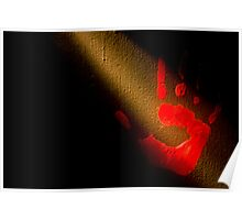 Red Print Poster