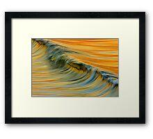 Smoke Wave Framed Print