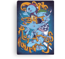 Gang of The Ruthless Animals Canvas Print