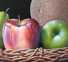 Fruits in basket. by Juan Carlos  Gayoso