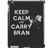 Keep calm and carry Bran. iPad Case/Skin