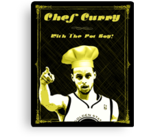 Chef Curry With The Pot Boy! Canvas Print