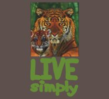 Live Simply Tiger by Mundy Hackett