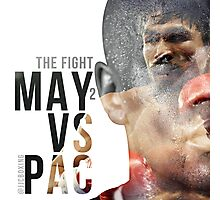 """Boxing - Mayweather vs Pacquiao """"The Fight"""" Photographic Print"""