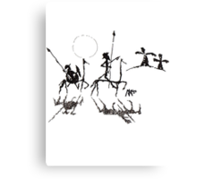 Don Quijote y Sacho Panza Canvas Print
