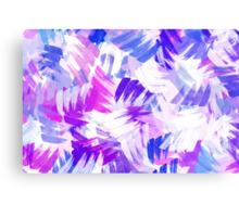 Purple Abstract Paint Pattern Canvas Print