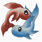 Pisces (Plain) by Kitsune Arts