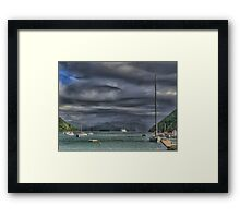 A Lion in a Storm at Picton. Framed Print