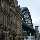 Tyne Bridge from Newcastle Quayside by Onions