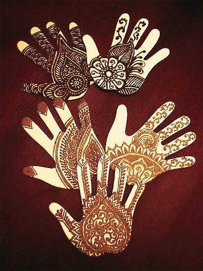 The many hands of Mehndi by bajidoo