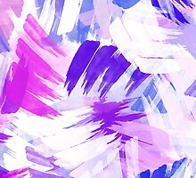 Purple Abstract Paint Pattern by Christina Rollo
