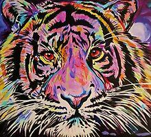 Pop Art Tiger Eyes by JohnPaulSneed