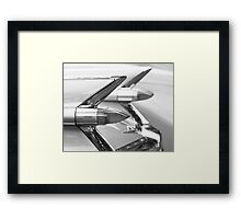 Caddy Taillights Framed Print