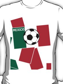 Flag of Mexico Football T-Shirt