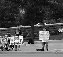 War Protest Austin Texas by KSkinner