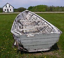 skiff boat by Cheryl Dunning