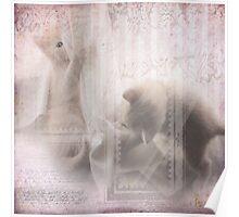 Pink kitten mischief Poster