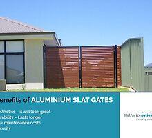 4 Benefits of Aluminium Slat Gates by Halfpricepa