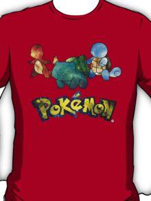 Pokemon Galaxy Kanto Starters T-Shirt