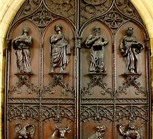 Great West Door of Beverley Minster, Beverley UK by Bev Pascoe