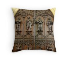 Great West Door of Beverley Minster, Beverley UK Throw Pillow