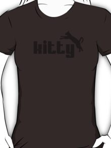 Kitty - funny puma logo cat parody T-Shirt