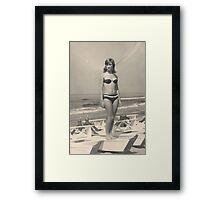 MIA SORELLA....1967..San benedetto del Tronto . Italia.EUROPA . 9000  VISUALIZZAZ 2015- VETRINA RB EXPLORE 18 OTTOBRE 2011....... . Framed Print