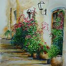 Pots and Plants at the Front Door by lizzyforrester