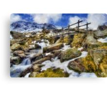 Bridge To Idwal Canvas Print