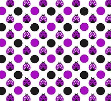 Purple Ladybugs by purplesensation