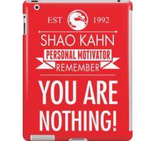 Shao Kahn Personal Motivator iPad Case/Skin