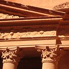 Detail of the Treasury at Petra by Dan Broome