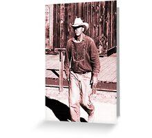 A True Cowboy Greeting Card