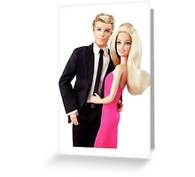 Barbie and Ken Greeting Card