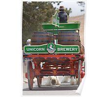 Unicorn Brewery Cart Poster