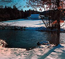 River across winter wonderland | landscape photography by Patrick Jobst