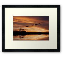 Sunset Marauders  Framed Print