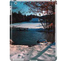 River across winter wonderland | landscape photography iPad Case/Skin