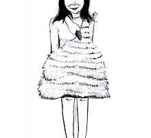Bjork Swan Dress Print by burntfeather