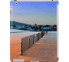 Fences, evening sun and the village | landscape photography iPad Case/Skin
