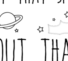 All About That Space, 'bout That Space Sticker