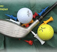 Golfers' Birthday Card by BizziLizzy