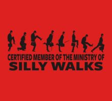 Certified Member Of The Ministry Of Silly Walks Kids Clothes