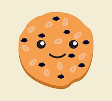 Cute Kawaii Oatmeal Raisin Cookie by Eggtooth