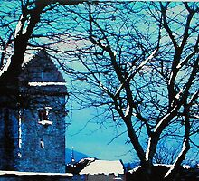 St Andrew's Kirk Tower, Peebles (digitally enhanced photograph) by BillCowe